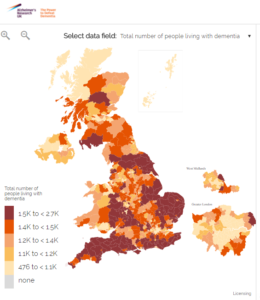 Map Of Uk 2050.Prevalence Dementia Statistics Hub